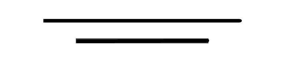 2 traits noir décoratif